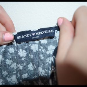 Brandy Melville Dresses - Brandy Melville blue white floral wrap jada dress